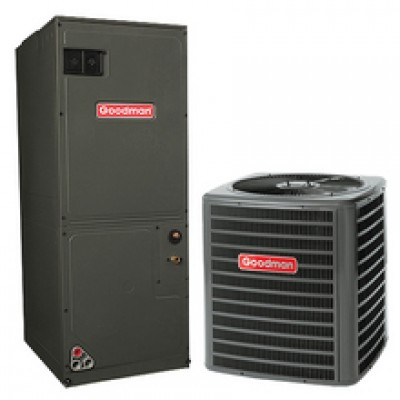 GOODMAN HEAT PUMP Mod:GSZ140181 AIR HANDLER Mod: ARUF25B14 1.5TON 14SEER  AIR CONDITIONER SYSTEM